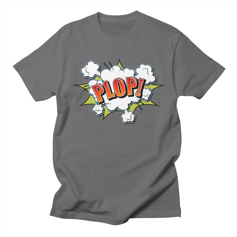 Wow! Zap! Bang! Pow! - Vintage Pop Art Comic Design - Red - Plop! Men's T-Shirt by ARTinfusion - Get your's now!