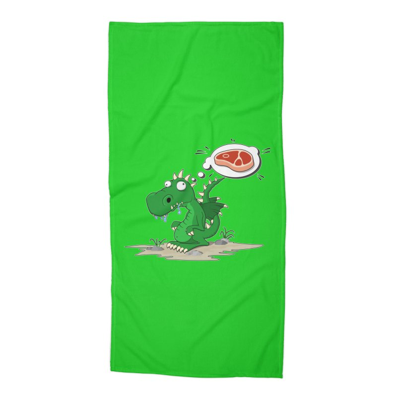 DragonRex - Meat Lover Accessories Beach Towel by ARTinfusion - Get your's now!