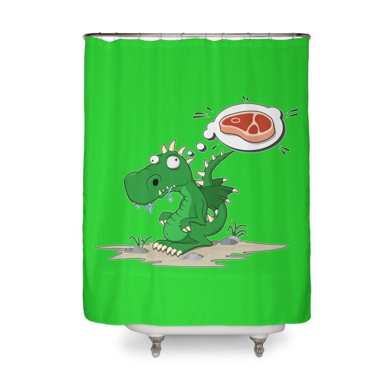 DragonRex - Meat Lover Home Shower Curtain by ARTinfusion - Get your's now!