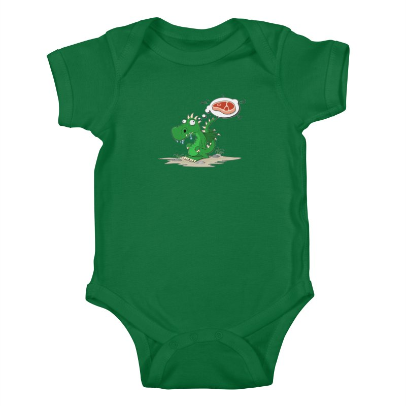 DragonRex - Meat Lover Kids Baby Bodysuit by ARTinfusion - Get your's now!