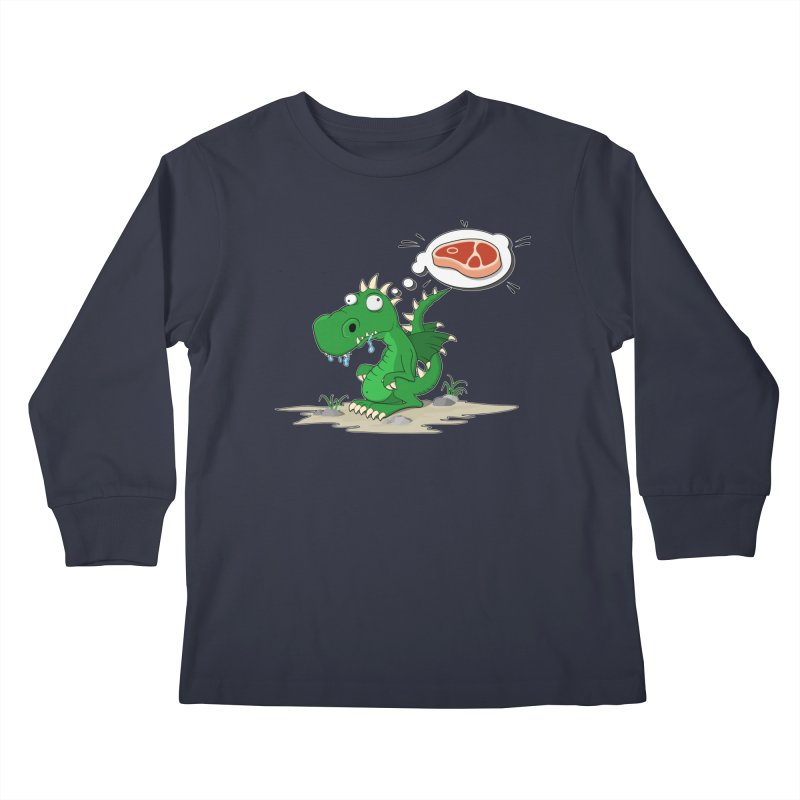 DragonRex - Meat Lover Kids Longsleeve T-Shirt by ARTinfusion - Get your's now!