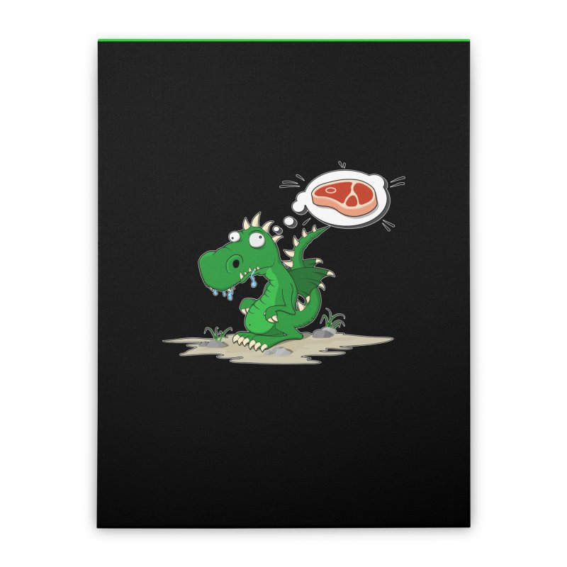 DragonRex - Meat Lover Home Stretched Canvas by ARTinfusion - Get your's now!