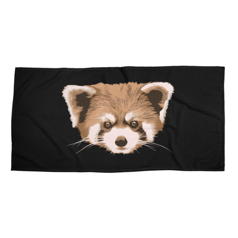 Is it a fox? Is it a panda? No it is a red panda bear! - The Red Panda - Accessories Beach Towel by ARTinfusion - Get your's now!