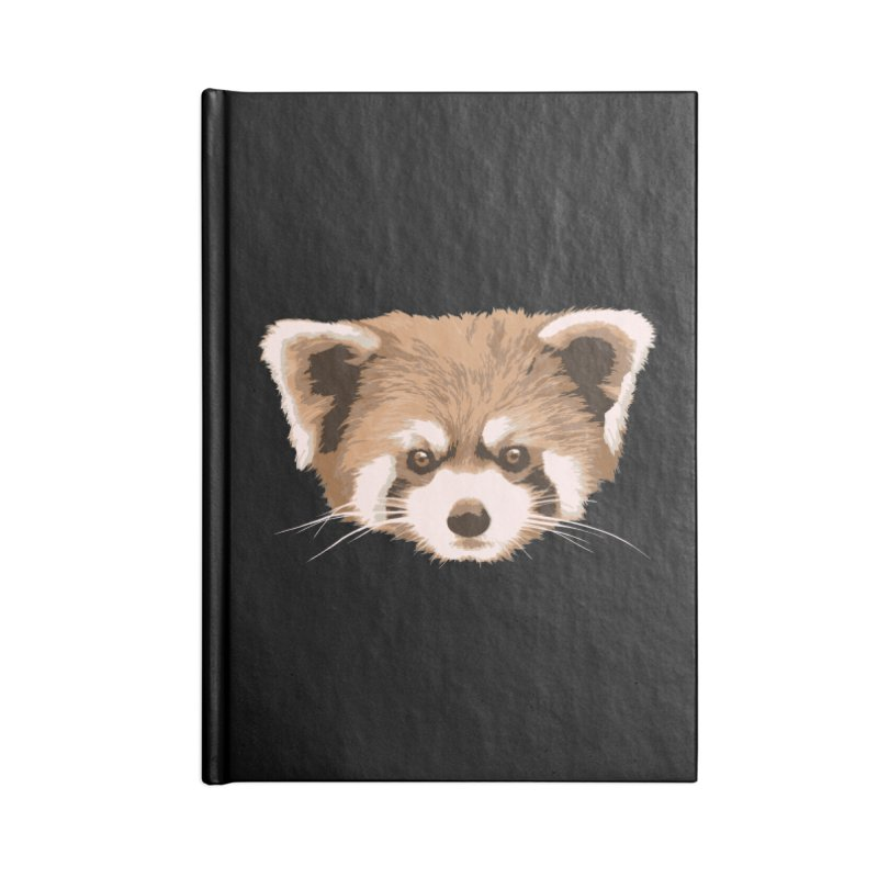 Is it a fox? Is it a panda? No it is a red panda bear! - The Red Panda - Accessories Notebook by ARTinfusion - Get your's now!