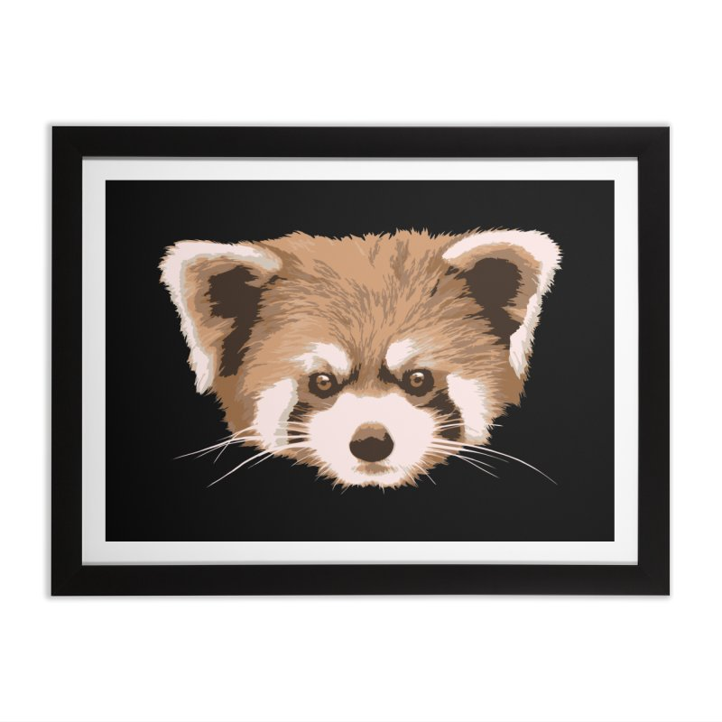 Is it a fox? Is it a panda? No it is a red panda bear! - The Red Panda - Home Framed Fine Art Print by ARTinfusion - Get your's now!
