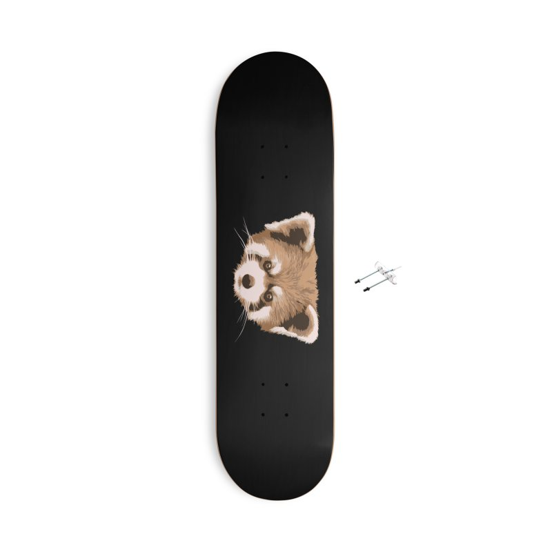 Is it a fox? Is it a panda? No it is a red panda bear! - The Red Panda - Accessories Skateboard by ARTinfusion - Get your's now!