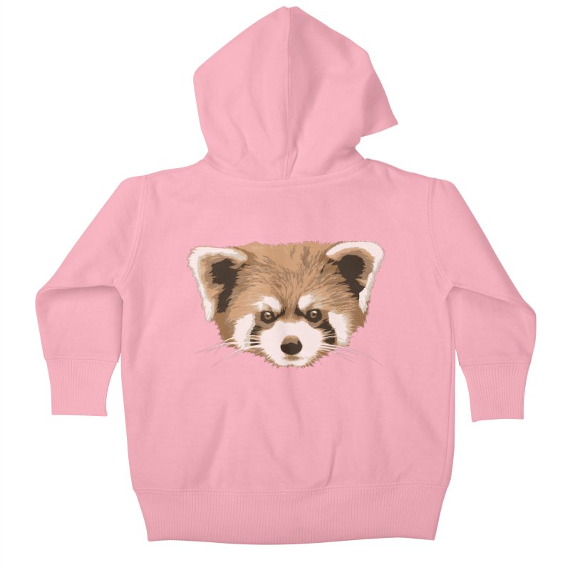 Is it a fox? Is it a panda? No it is a red panda bear! - The Red Panda - Kids Baby Zip-Up Hoody by ARTinfusion - Get your's now!
