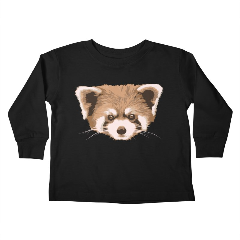Is it a fox? Is it a panda? No it is a red panda bear! - The Red Panda - Kids Toddler Longsleeve T-Shirt by ARTinfusion - Get your's now!