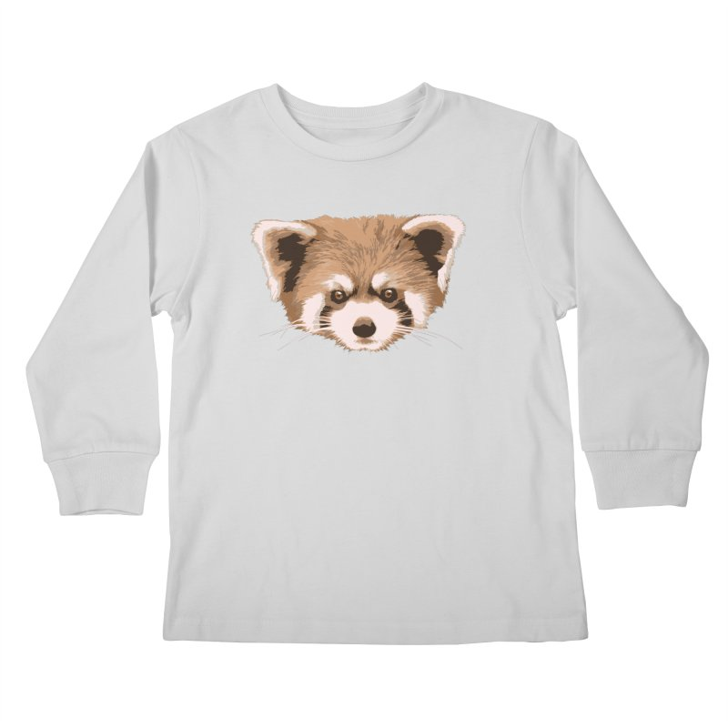 Is it a fox? Is it a panda? No it is a red panda bear! - The Red Panda - Kids Longsleeve T-Shirt by ARTinfusion - Get your's now!