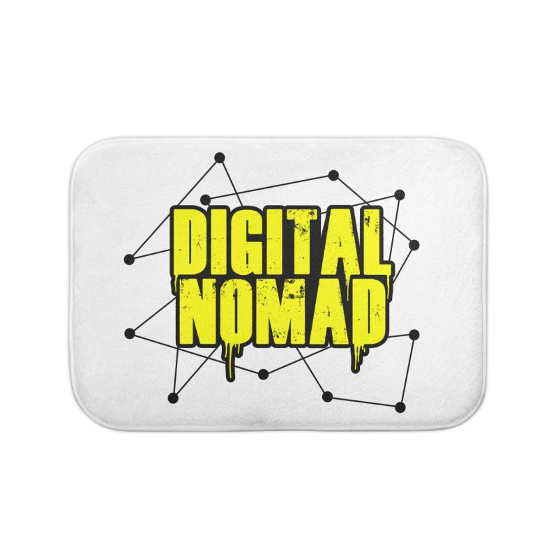 Digital Nomad - Variant B Home Bath Mat by ARTinfusion - Get your's now!