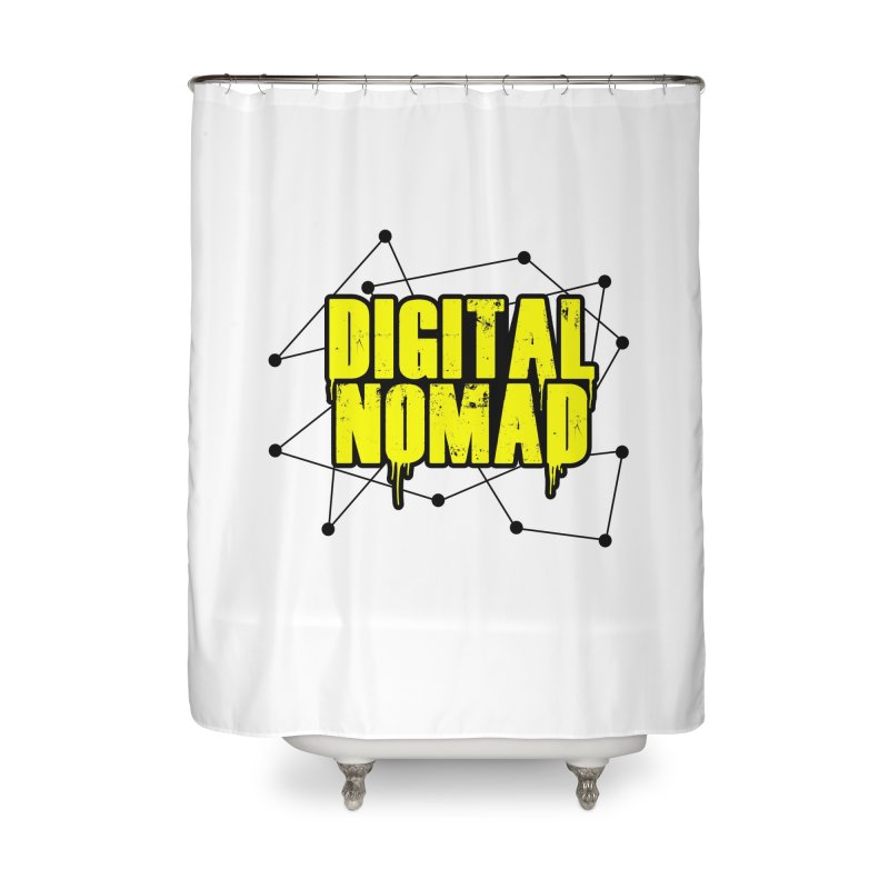 Digital Nomad - Variant B Home Shower Curtain by ARTinfusion - Get your's now!