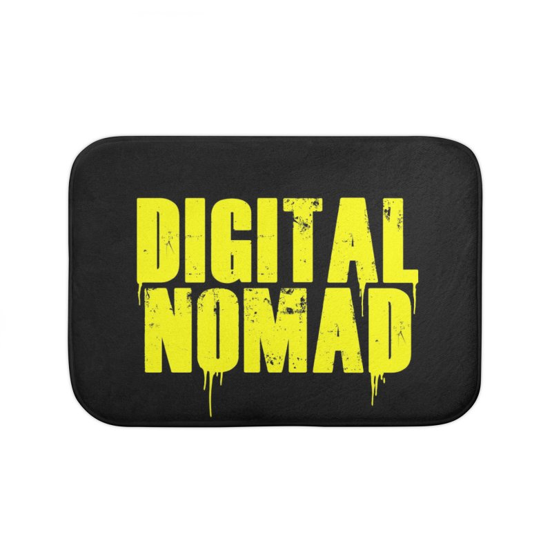 Digital Nomad - Variant A Home Bath Mat by ARTinfusion - Get your's now!