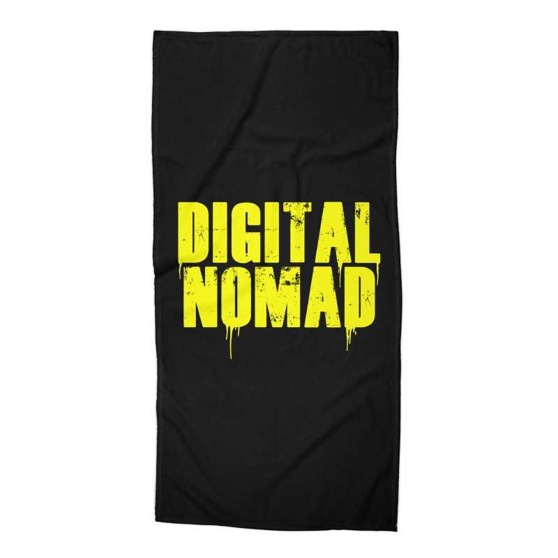 Digital Nomad - Variant A Accessories Beach Towel by ARTinfusion - Get your's now!