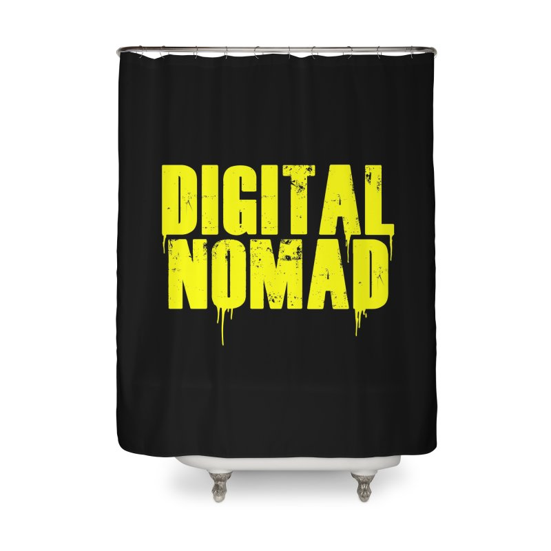Digital Nomad - Variant A Home Shower Curtain by ARTinfusion - Get your's now!