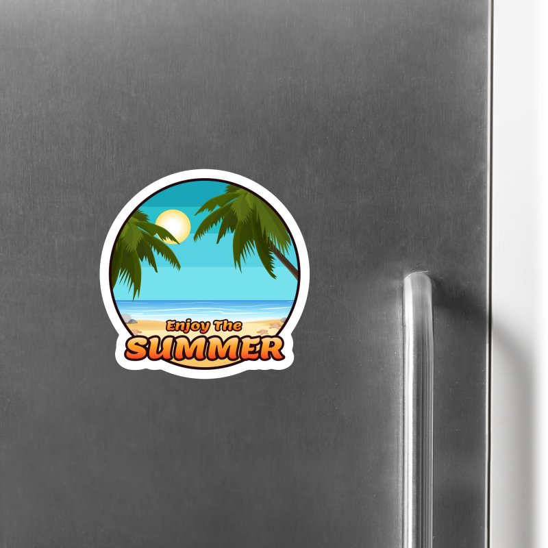 Enjoy The Summer Accessories Magnet by ARTinfusion - Get your's now!