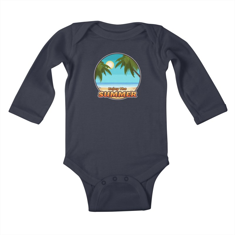 Enjoy The Summer Kids Baby Longsleeve Bodysuit by ARTinfusion - Get your's now!