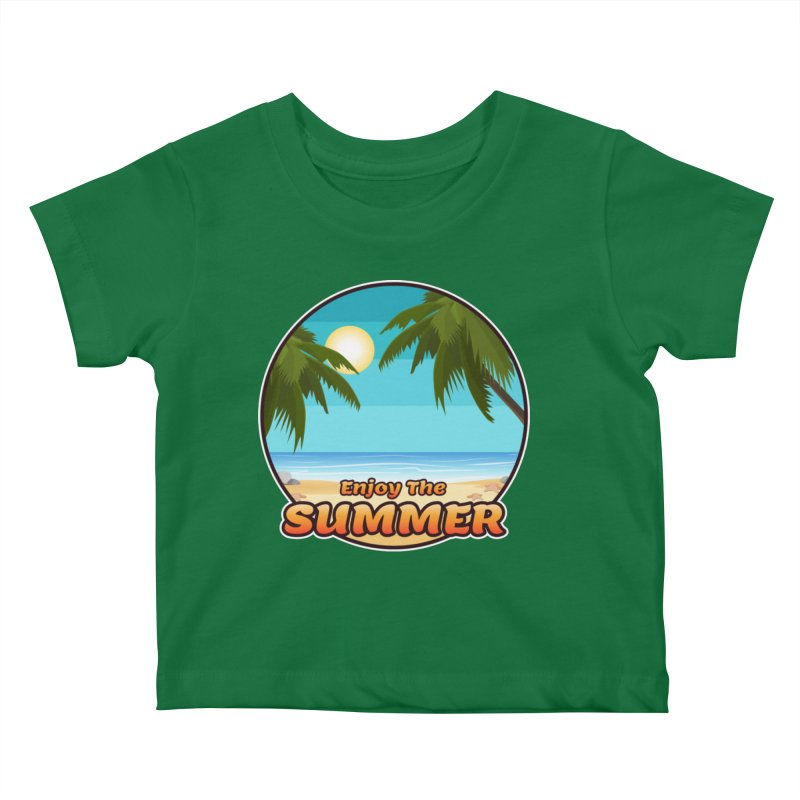 Enjoy The Summer Kids Baby T-Shirt by ARTinfusion - Get your's now!
