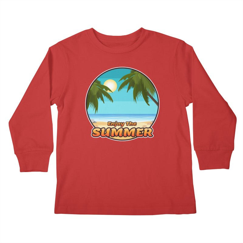 Enjoy The Summer Kids Longsleeve T-Shirt by ARTinfusion - Get your's now!