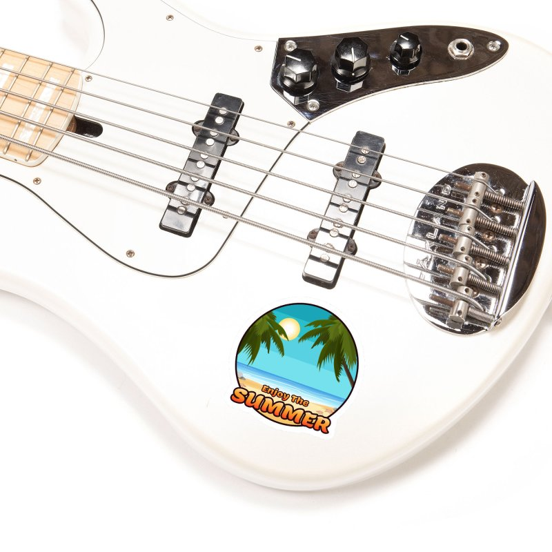 Enjoy The Summer Accessories Sticker by ARTinfusion - Get your's now!