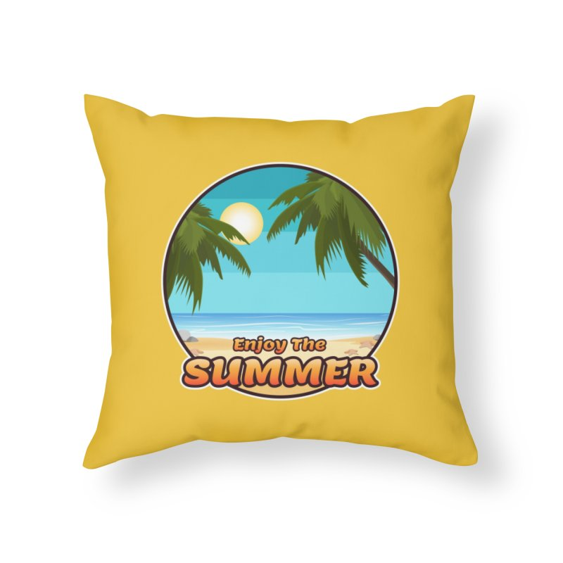 Enjoy The Summer Home Throw Pillow by ARTinfusion - Get your's now!