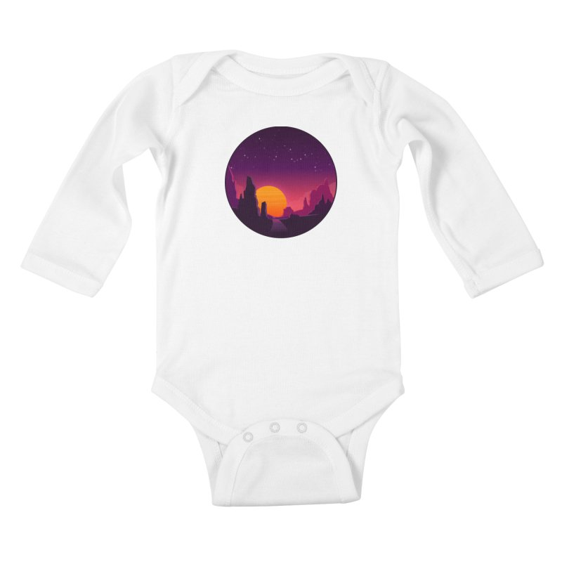 Desert Night Kids Baby Longsleeve Bodysuit by ARTinfusion - Get your's now!
