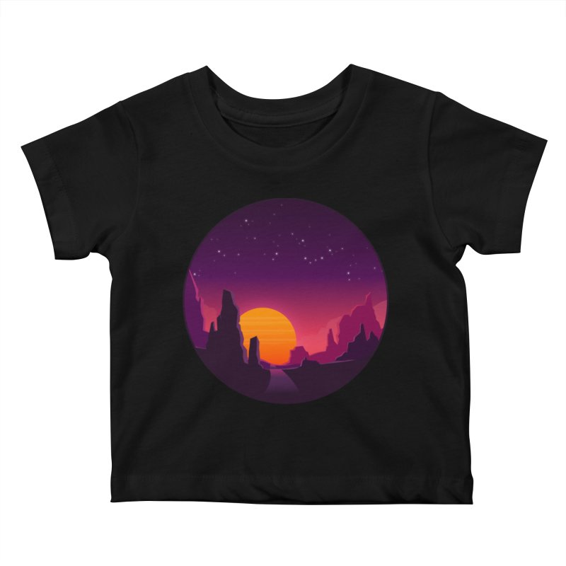 Desert Night Kids Baby T-Shirt by ARTinfusion - Get your's now!