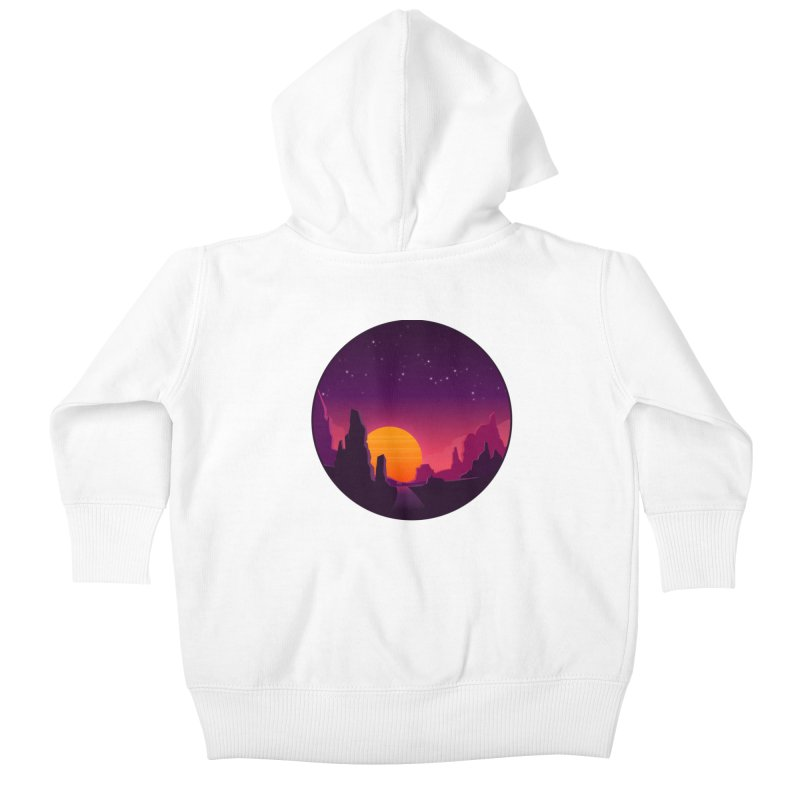 Desert Night Kids Baby Zip-Up Hoody by ARTinfusion - Get your's now!