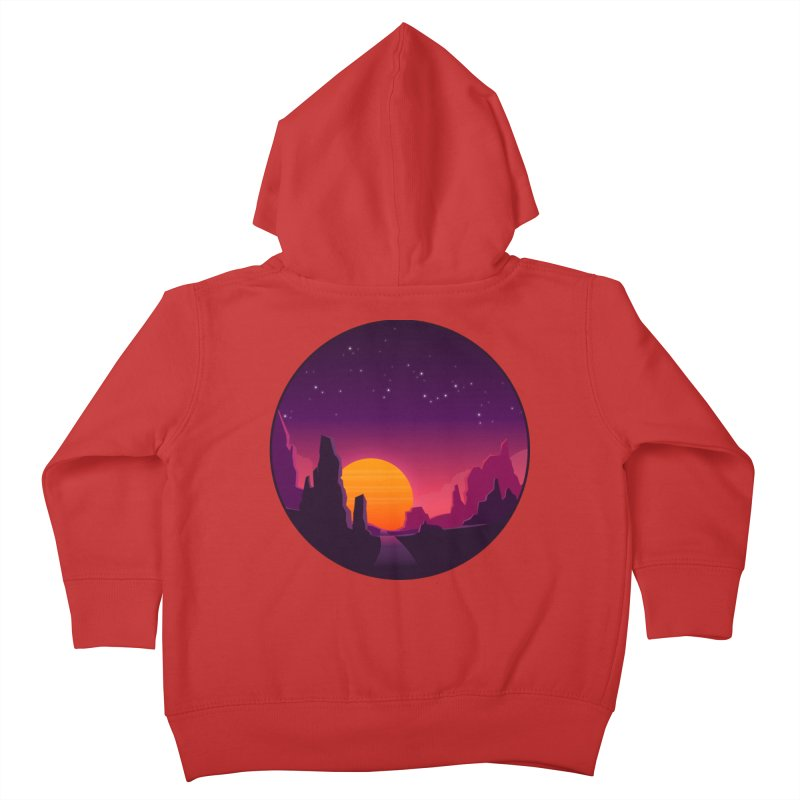 Desert Night Kids Toddler Zip-Up Hoody by ARTinfusion - Get your's now!