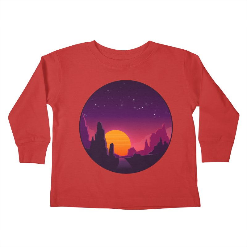 Desert Night Kids Toddler Longsleeve T-Shirt by ARTinfusion - Get your's now!