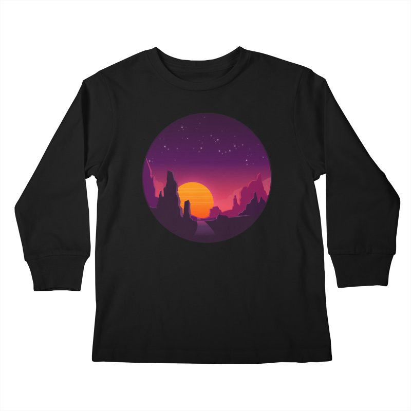 Desert Night Kids Longsleeve T-Shirt by ARTinfusion - Get your's now!