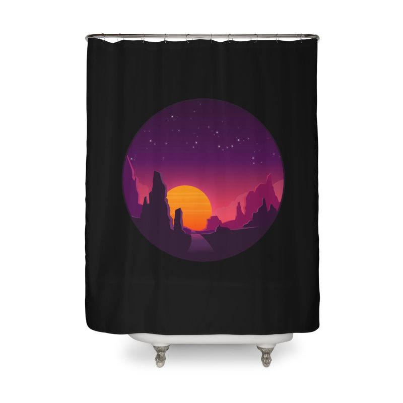Desert Night Home Shower Curtain by ARTinfusion - Get your's now!