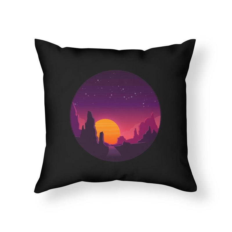 Desert Night Home Throw Pillow by ARTinfusion - Get your's now!
