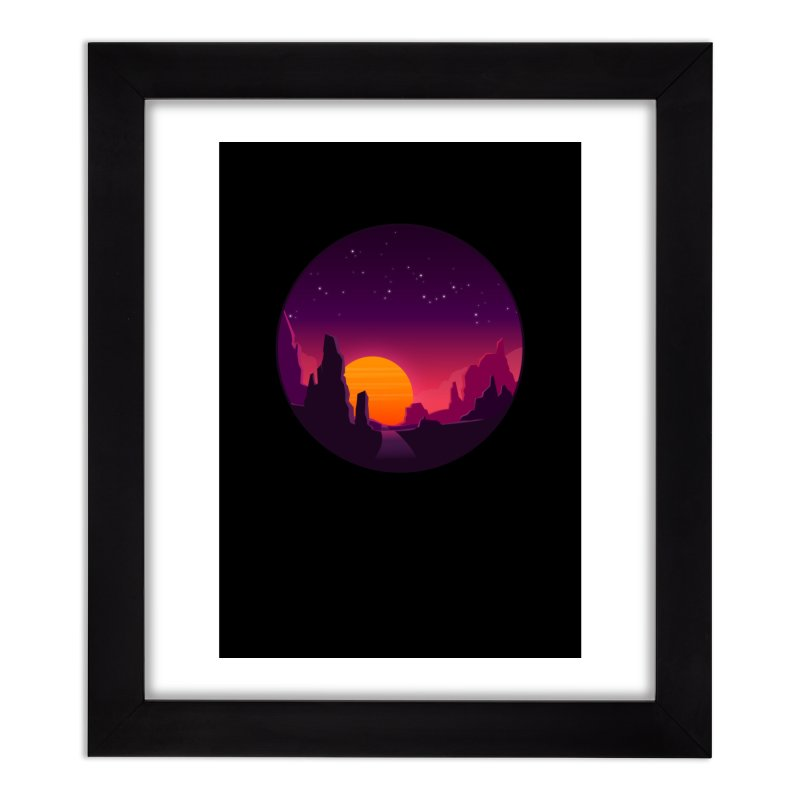 Desert Night Home Framed Fine Art Print by ARTinfusion - Get your's now!