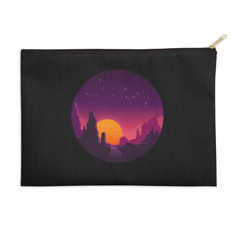 Desert Night Accessories Zip Pouch by ARTinfusion - Get your's now!
