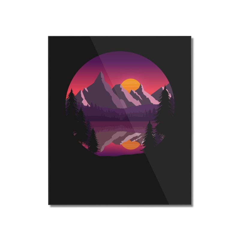 The Lake Adventure Home Mounted Acrylic Print by ARTinfusion - Get your's now!