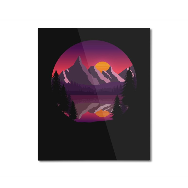 The Lake Adventure Home Mounted Aluminum Print by ARTinfusion - Get your's now!