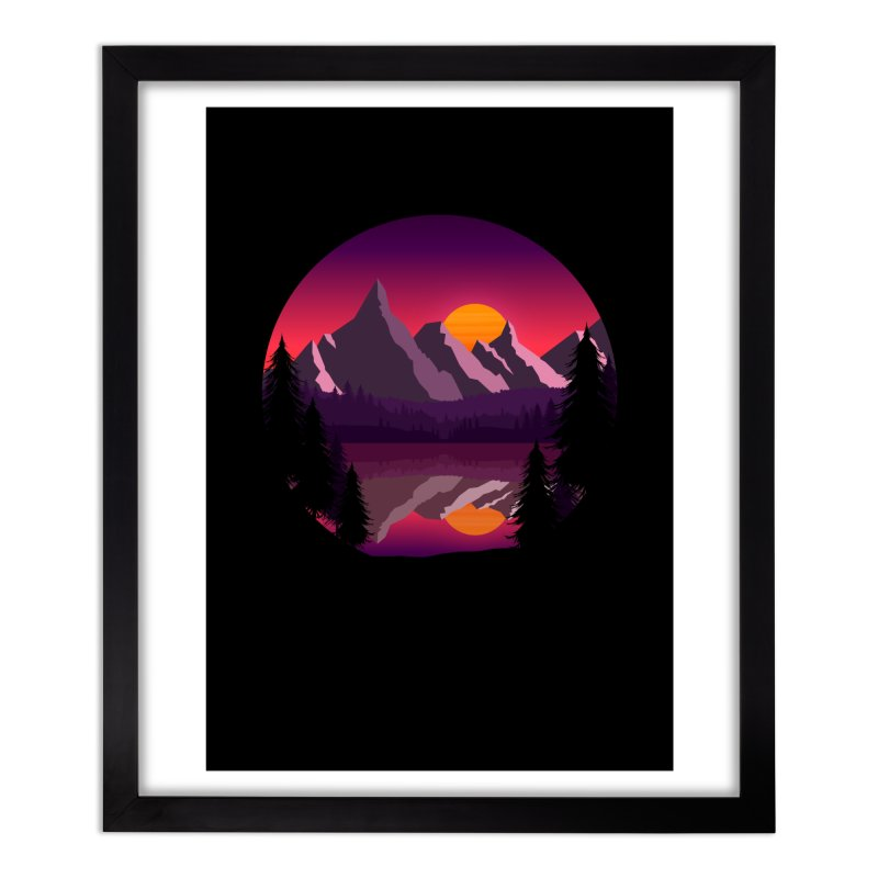 The Lake Adventure Home Framed Fine Art Print by ARTinfusion - Get your's now!