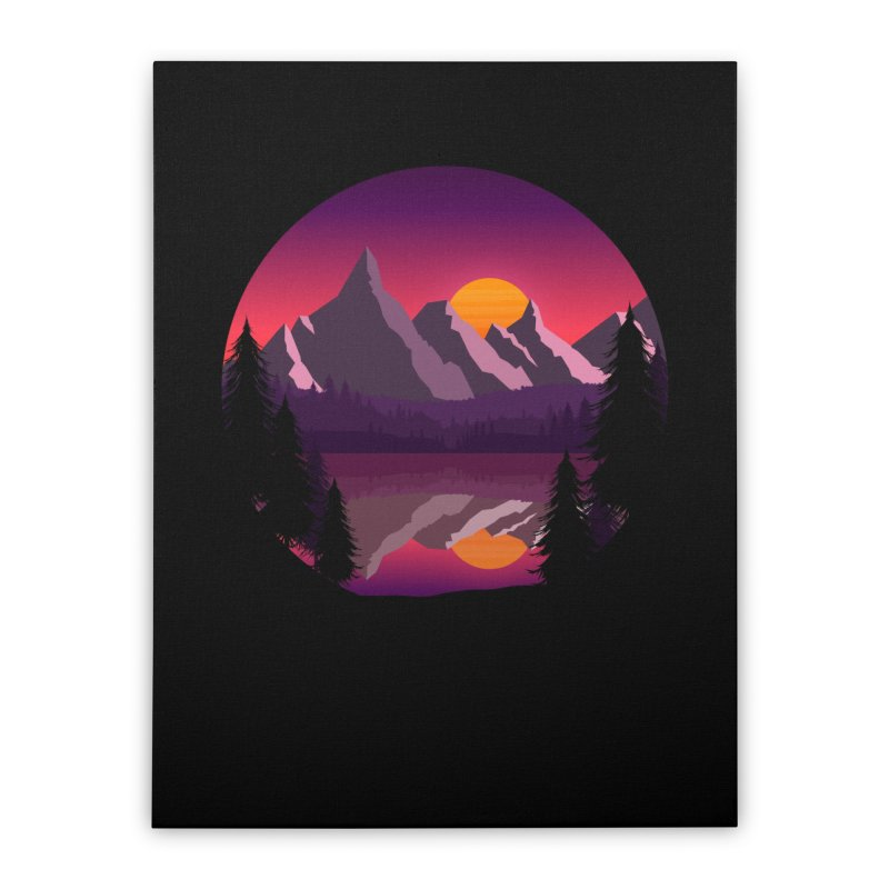 The Lake Adventure Home Stretched Canvas by ARTinfusion - Get your's now!