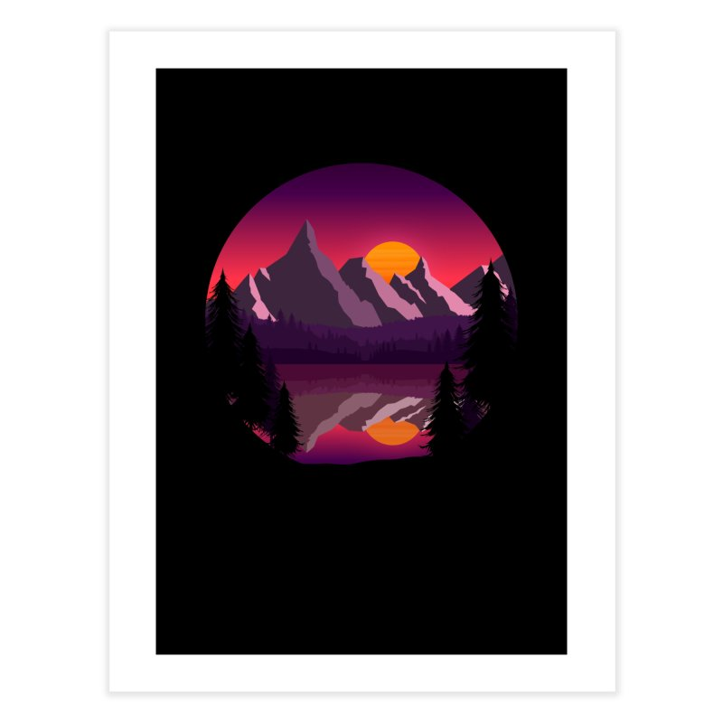 The Lake Adventure Home Fine Art Print by ARTinfusion - Get your's now!