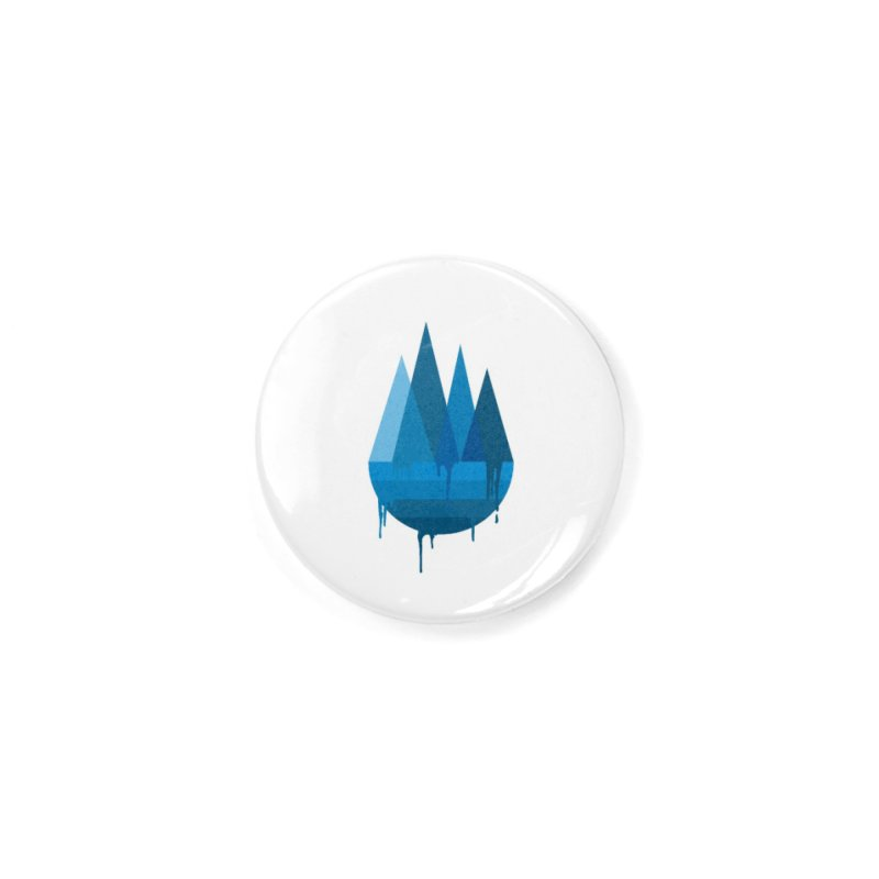 Dying Earth - The last drop - blue variant Accessories Button by ARTinfusion - Get your's now!