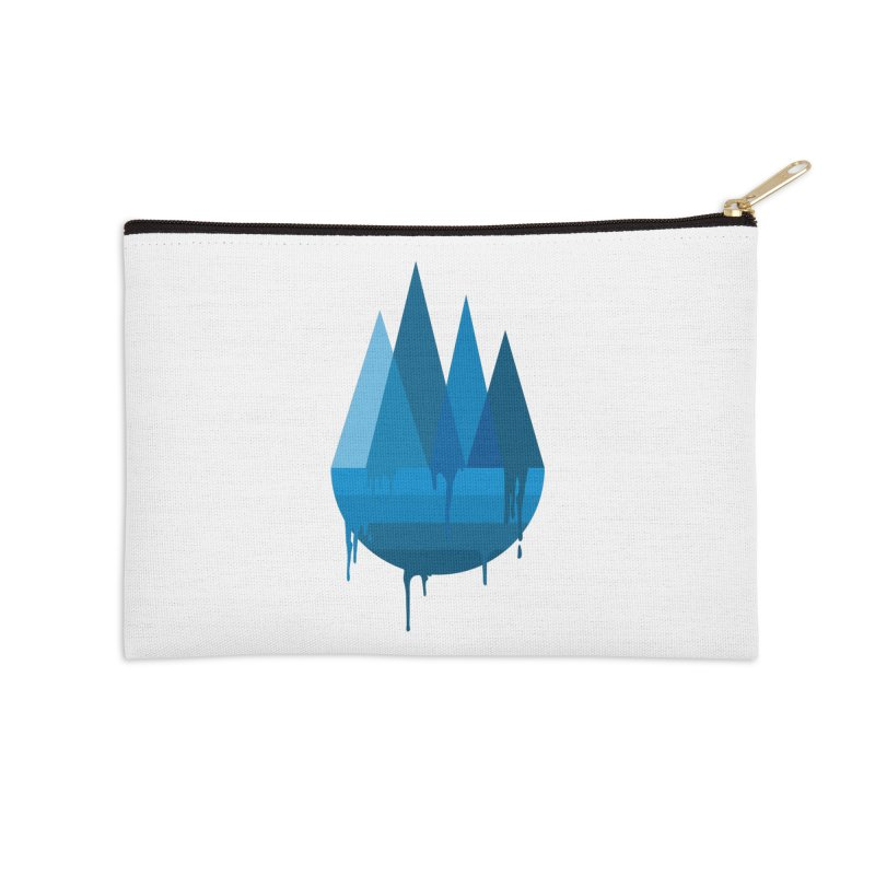 Dying Earth - The last drop - blue variant Accessories Zip Pouch by ARTinfusion - Get your's now!