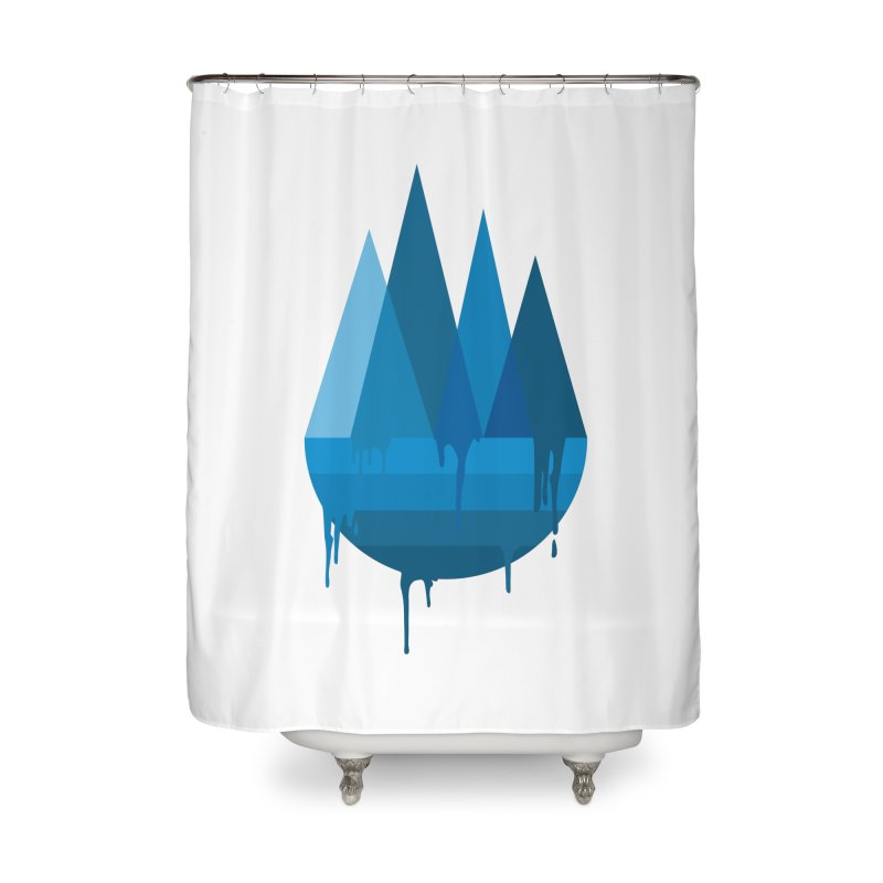 Dying Earth - The last drop - blue variant Home Shower Curtain by ARTinfusion - Get your's now!