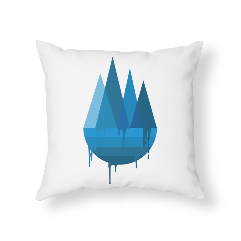 Dying Earth - The last drop - blue variant Home Throw Pillow by ARTinfusion - Get your's now!