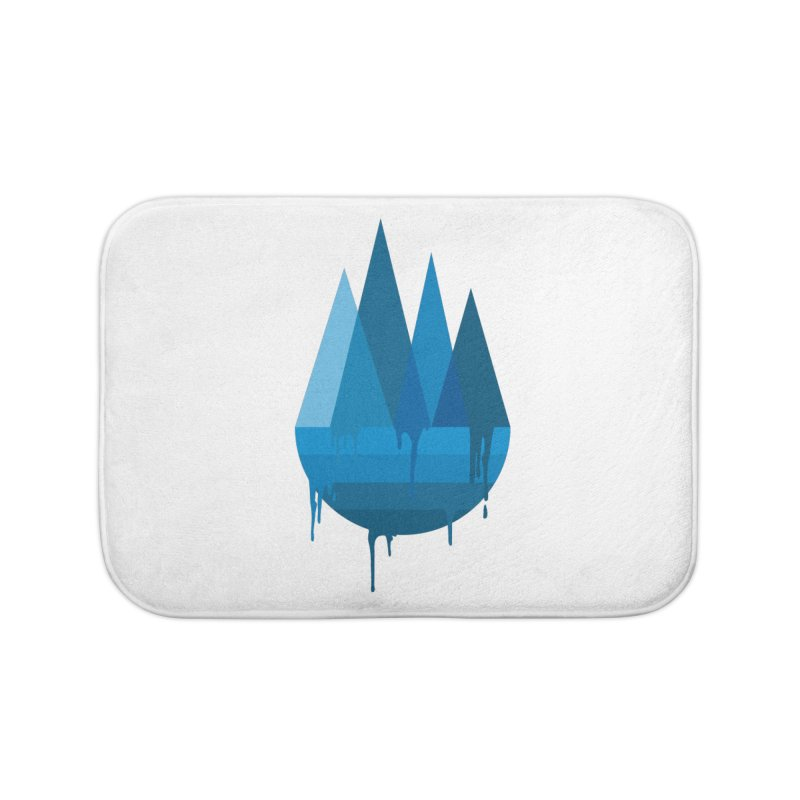Dying Earth - The last drop - blue variant Home Bath Mat by ARTinfusion - Get your's now!