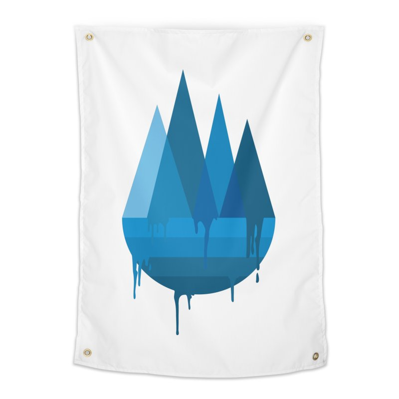 Dying Earth - The last drop - blue variant Home Tapestry by ARTinfusion - Get your's now!