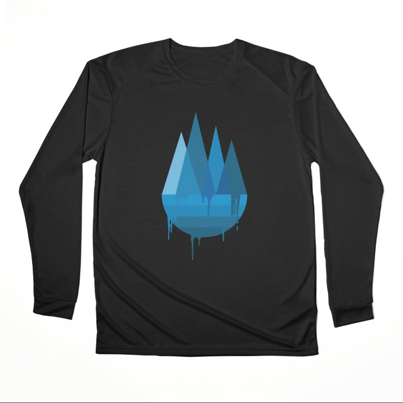 Dying Earth - The last drop - blue variant Men's Longsleeve T-Shirt by ARTinfusion - Get your's now!