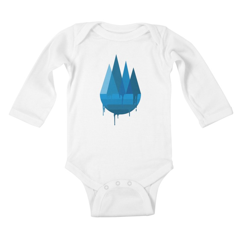 Dying Earth - The last drop - blue variant Kids Baby Longsleeve Bodysuit by ARTinfusion - Get your's now!