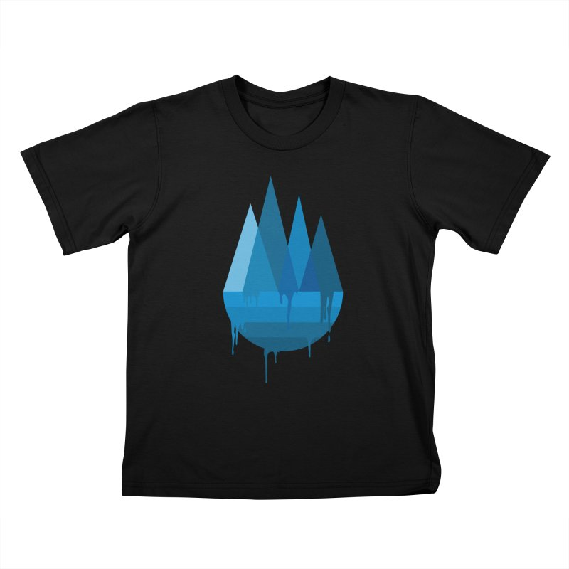 Dying Earth - The last drop - blue variant Kids T-Shirt by ARTinfusion - Get your's now!