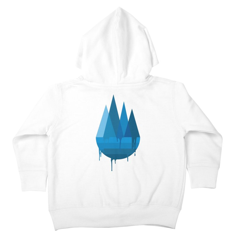 Dying Earth - The last drop - blue variant Kids Toddler Zip-Up Hoody by ARTinfusion - Get your's now!