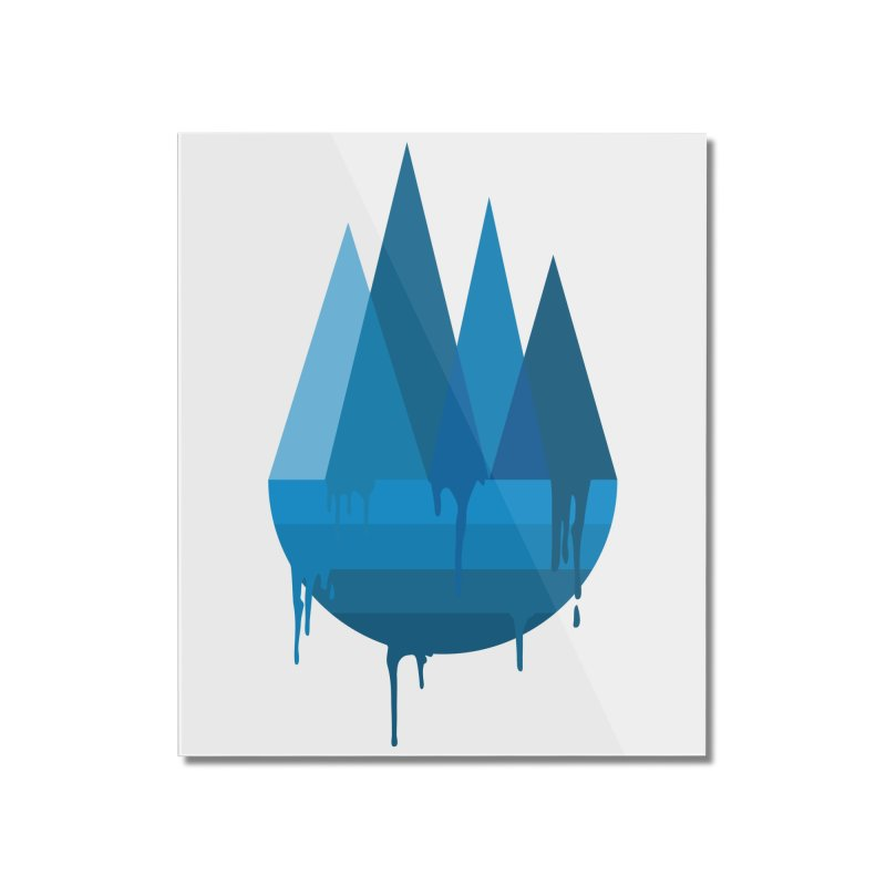 Dying Earth - The last drop - blue variant Home Mounted Acrylic Print by ARTinfusion - Get your's now!